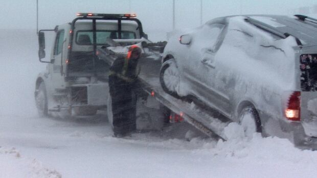 RCMP in New Brunswick are asking drivers to stay home during Thursday's expected storm. Sgt. Chantal Farrah said first responders don't want a repeat of earlier this week, when 75 drivers had to be rescued during a blizzard.