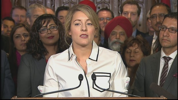 """Heritage Minister Mélanie Joly has rejected a Conservative bid to remove the word """"Islamophobia"""" from a religious discrimination motion"""