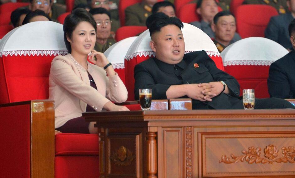 Kim Jong Un and his wife Ri Sol Ju NORTH KOREA
