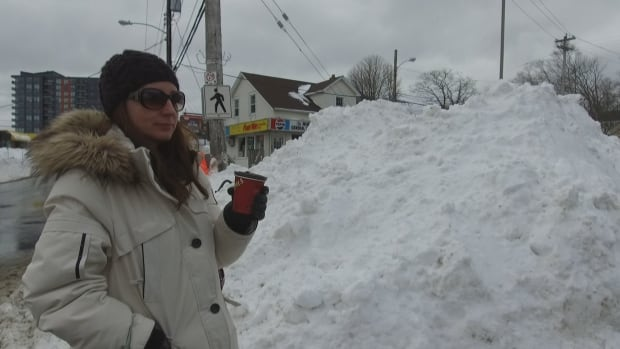 Many pedestrians in the Halifax area are being forced to walk on the streets because sidewalks have not been cleared.