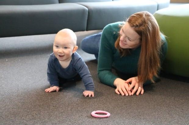 Sarah Lolley and baby Rowan
