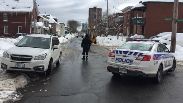 Ottawa police blocked off the intersection of Rochester and WIllow streets in Little Italy after a man was shot in the leg on Thursday afternoon.