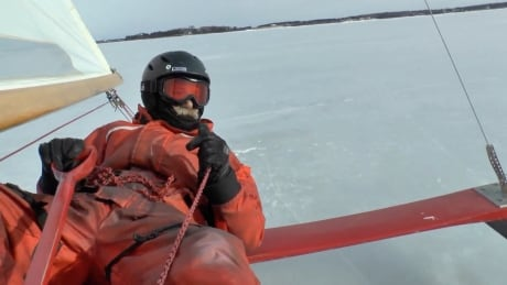 'That speed is unbelievable': Take a slide on a P.E.I. ice boat