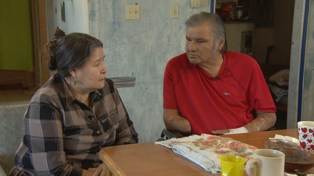 Cyril Desjarlais with Elizabeth Richard