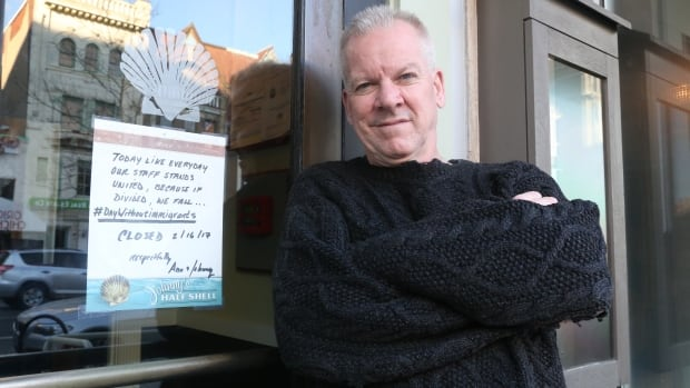 Johnny Fulchino, co-owner of Johnny's Half Shell in Washington, D.C., was among dozens of prominent business operators who observed a 'Day Without Immigrants' on Thursday by closing up shop to recognize the contribution of immigrant labour.