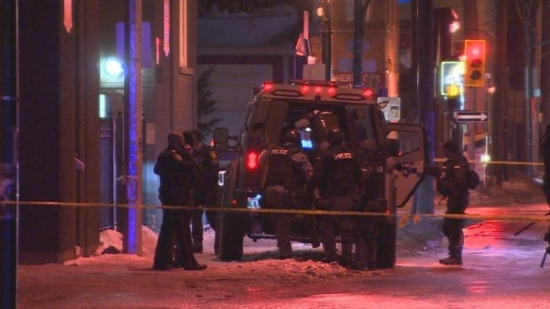 The Winnipeg Police Service armoured vehicle was dispatched to Ellice Avenue on Thursday evening.
