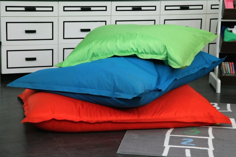 When Furnishing Your Kids Playroom Skip The Fussy Sofa Instead Opt For Giant Bean Bags Like These Ones From At Home Theyre Comfy And Are Sure To