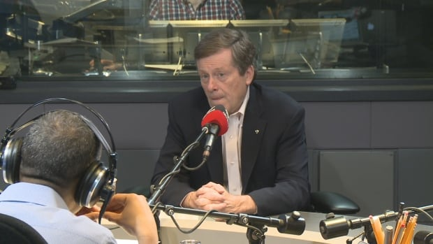 Mayor John Tory speaks to CBC Radio's Metro Morning on Friday.