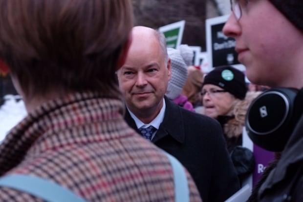 Jamie Ballie teachers protest