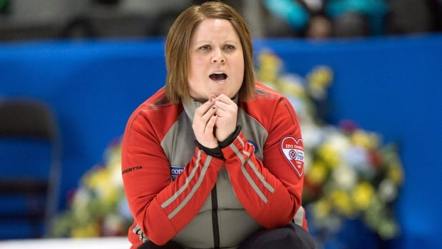 Northwest Territories skip Kerry Galusha, pictured here, downed Geneva Chislett 10-2 Friday morning to eliminate Nunavut from contention at the Scotties qualifier and will meet New Brunswick's Melissa Adams for the right to keep playing in the Canadian women's curling championship on Saturday in St. Catharines, Ont.