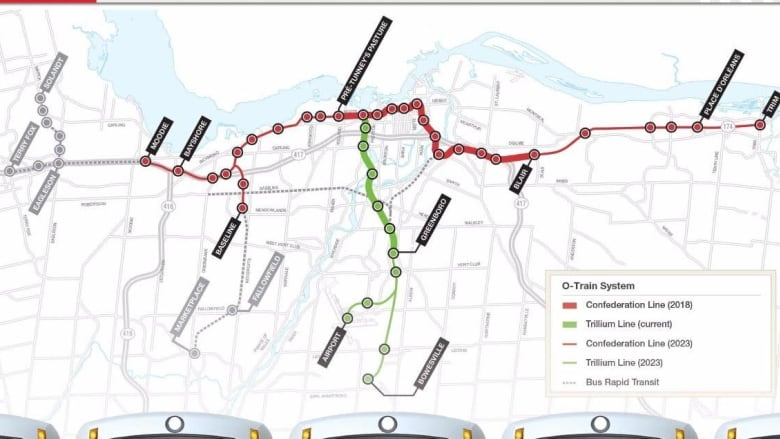 Ottawa Lrt Map Stage 2 of Ottawa's LRT to extend farther, cost more | CBC News