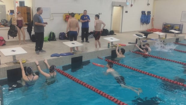 The Gander pool reopened Friday after being closed for several months, and no one is happier than competitive swimmers who have had to travel to train.