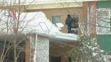 snowy school roof