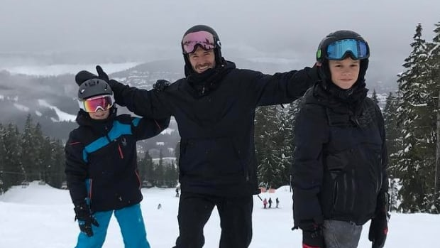 David Beckham posed at the top of the hills with his two youngest sons Cruz and Romeo for a photo on Instagram that he captioned, 'Boys on the top.'