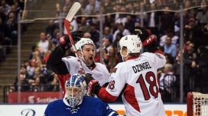 Sens close in on division lead with win over Leafs