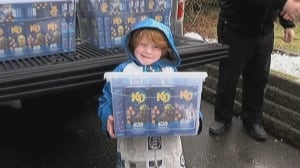 Superstore delivers more than 400 boxes of Kraft Dinner for B.C. boy with autism