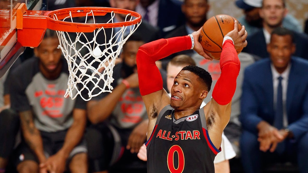 Westbrook, Durant connect for alley-oop just like old times