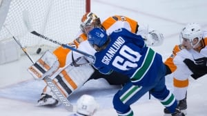 Canucks lose to Flyers after comeback falls short