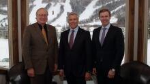Three atlantic premiers meeting in steady brook