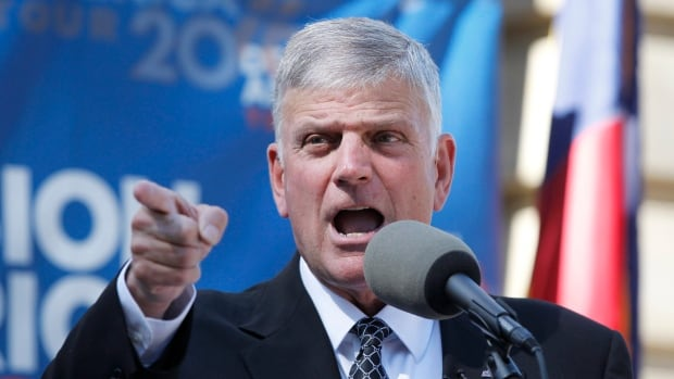 Franklin Graham, seen at an event in Raleigh, N.C., on Oct. 13, 2016, recently read scripture at the inauguration of President Donald Trump.