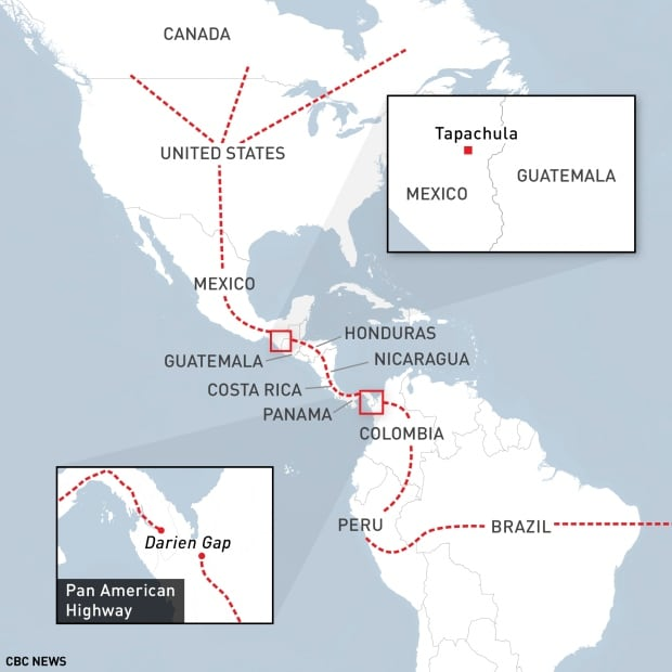 Central American Corridor A Dangerous Route For Migrants Heading - Us canada border crossings map