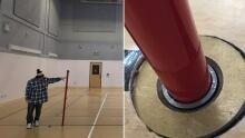 Hopedale gym floor problem split