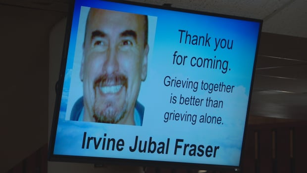 Mourners remembered the life of Winnipeg Transit driver Irvine Jubal Fraser at a funeral service in downtown Winnipeg Tuesday.