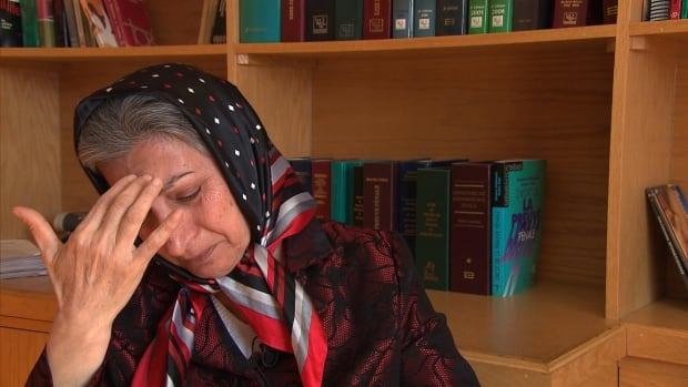 Roghayeh Azizi Mirmahaleh, 60, told Canada border service agents she's afraid for her safety if deported to Iran.