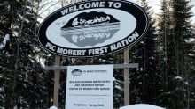 Pic Mobert First Nation welcome sign