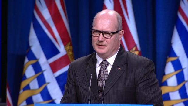 B.C. Finance Minister Mike de Jong presents the 2017 budget in Victoria, Feb.21.