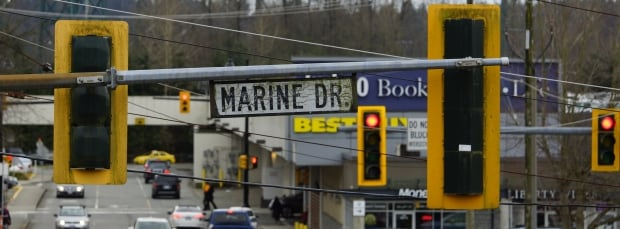 Intersections: Taylor Way and Marine Drive, West Vancouver