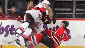 Hurting Senators put a hurtin' on Devils