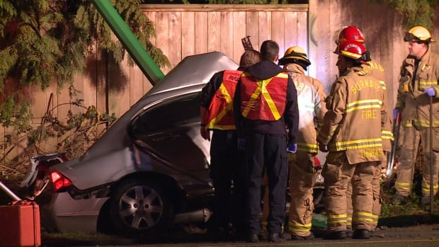 RCMP say the driver was most likely going at a high rate of speed on Lougheed Highway.