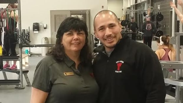 YMCA membership services manager Julie MacKinnon and membership services representative Josh Whitall are shown at the new Membertou, N.S., facility.