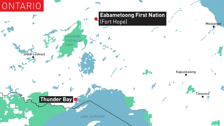 Map of Eabametoong First Nation