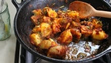 Curried Potatoes with Tomato and Ghee
