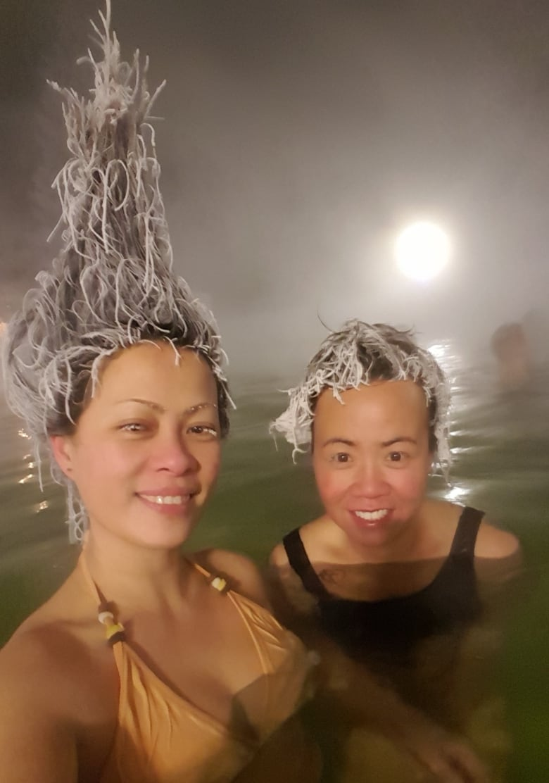 Deep-freeze hairdos go viral from Yukon hot springs