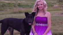 Sydney Loessin and her dog, Linc