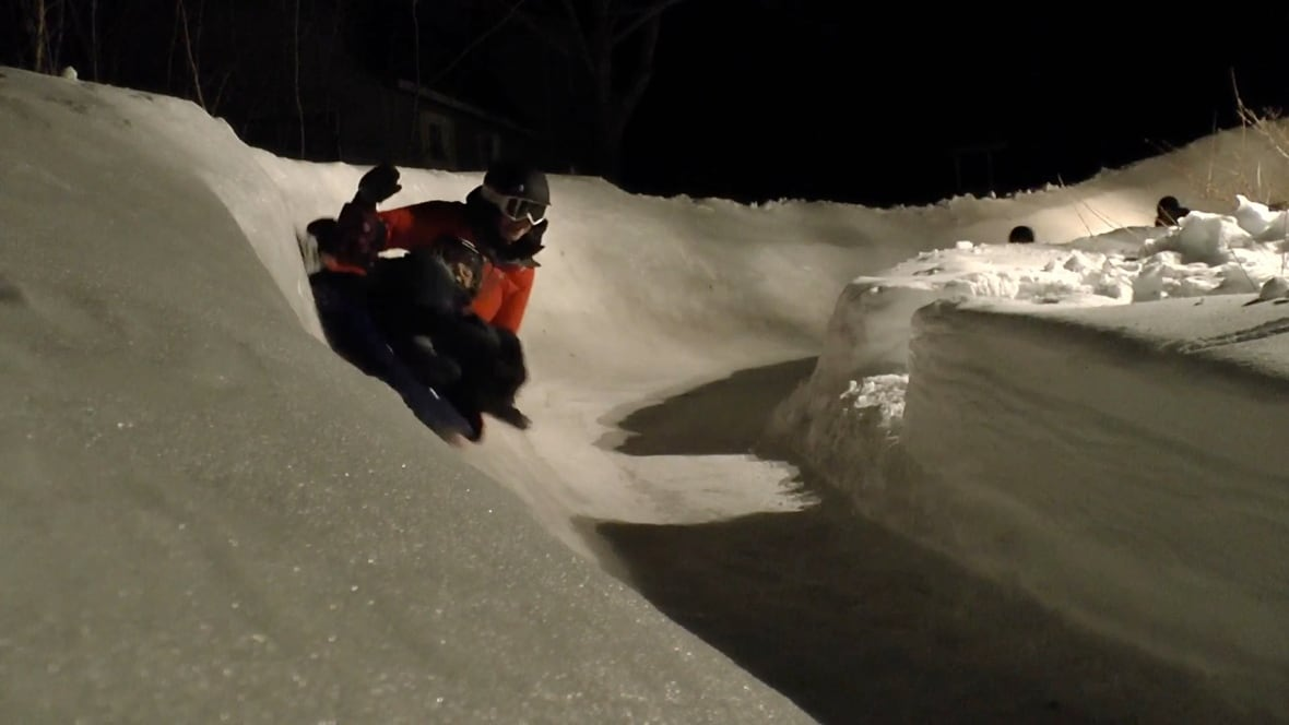 not as scary as it looks 39 this backyard luge track is 150 metres