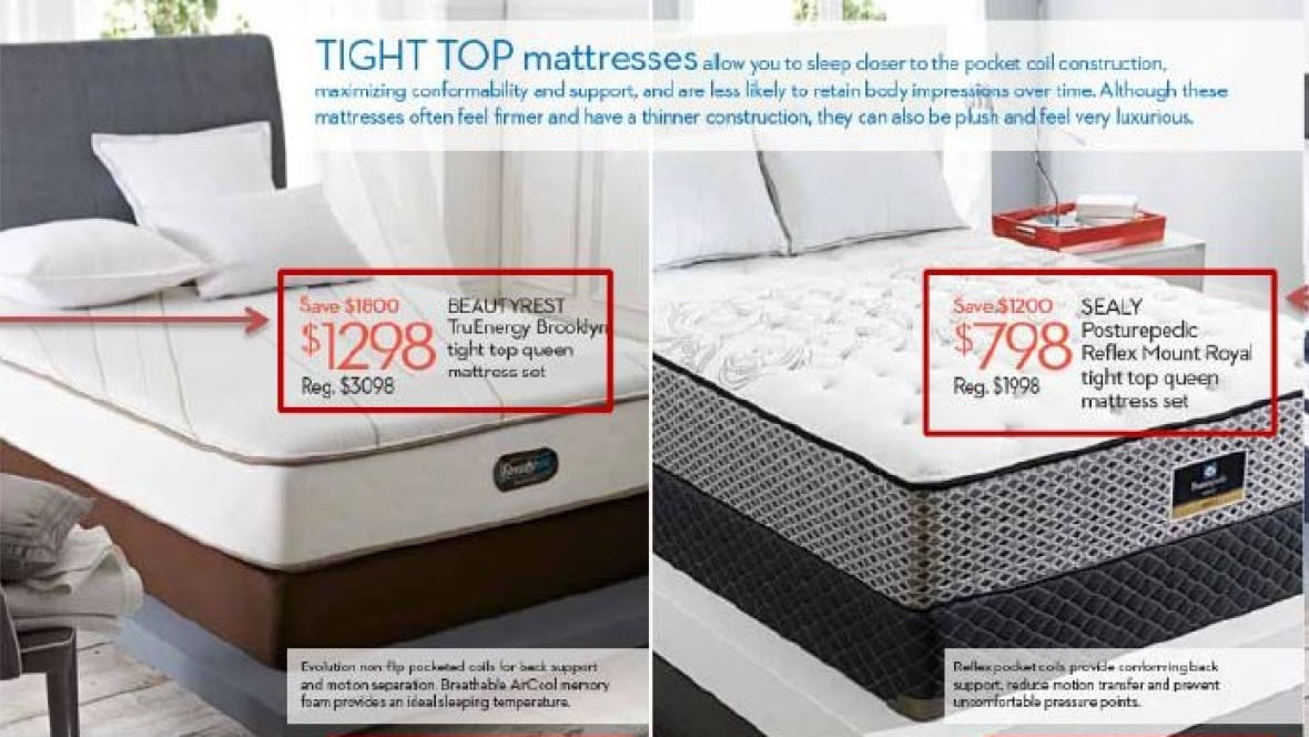 hudson 39 s bay co misled consumers on mattress prices says competition bureau business cbc news. Black Bedroom Furniture Sets. Home Design Ideas