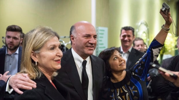 A majority of Canadians are familiar with Kevin O'Leary, polls suggest, which sets him apart from his largely unknown rivals.