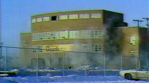 Edmonton Gardens demolition attempt in 1982
