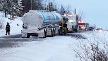 Highway 4 tanker fire
