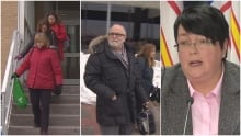 Public sector workers leaving confederation building