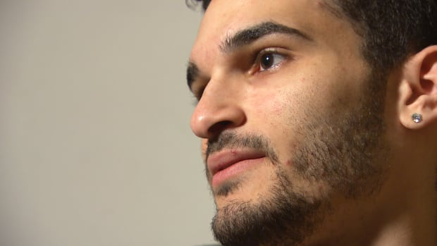 Samer Habib, 23, is afraid to go back to Egypt to renew his passport.