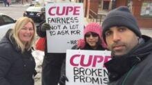 Cambridge inside workers strike