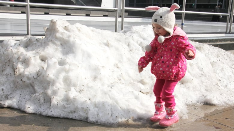 Lilly Zielinski, 3, Jumps In The Water From Melting Snow