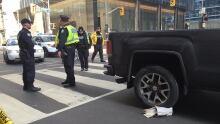 pedestrian struck pickup truck