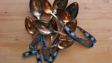 pretty group of spoons on counter