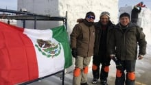 Mexican snow carvers